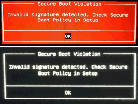 Ошибка Invalid signature detected Check Secure Boot Policy in Setup (как исправить) (1)