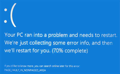 page_fault_in_nonpaged_area в windows 10
